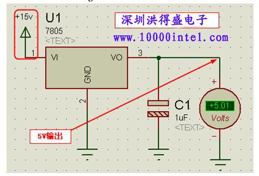 7805的稳压电源电路图