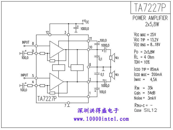 ta7227p 功放电路图