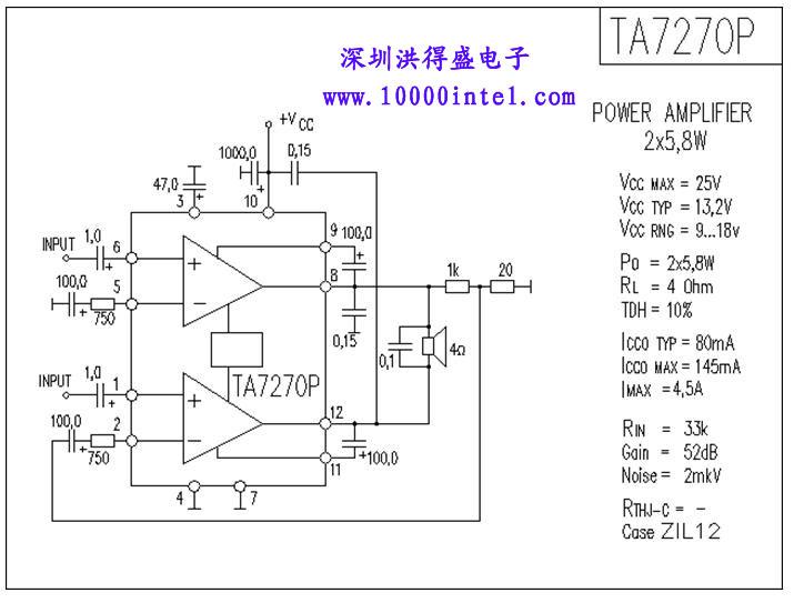 tda2030a功放模块接线图