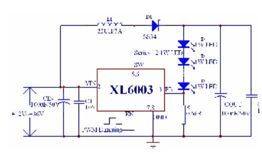 大功率led串联驱动电路图