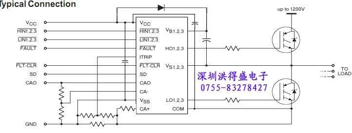 ir2133j 电路连接图