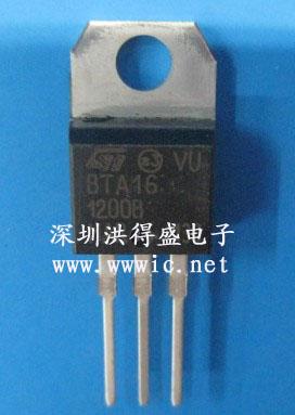 st 12  5000 to220 original 全新原装 型号:bta16 -1200b 电流/it