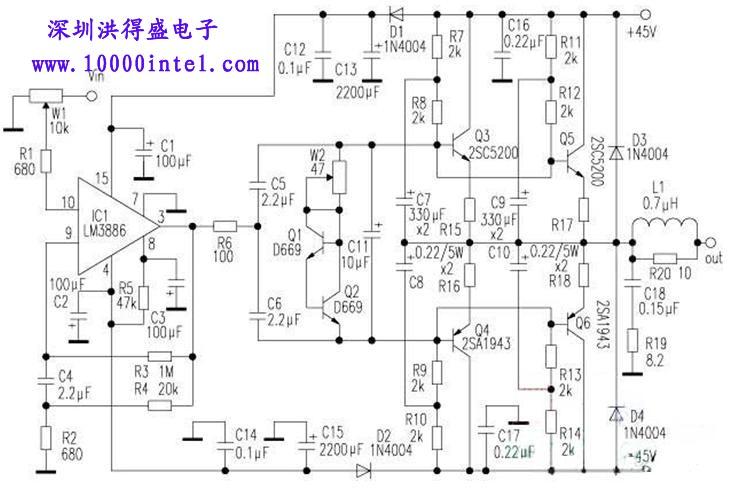 lm3886功放电路图